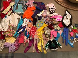 Vintage Barbie Doll Clothes Hand Lot Shoes Accessories 59 Mix Doll Clothes