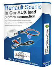 Renault Scenic AUX lead, iPod iPhone MP3 player, Renault AUX adaptor interface