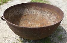 """Vintage Antique Cast Iron 39 Lb 23"""" x 11"""" Footed Kettle cauldron planter"""