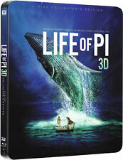 Life of Pi 3D (Includes 2D Version) - Limited Edition Steelbook (Blu-ray) *NEW*