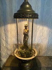 "VTG CREATORS INC. 30"" NUDE GODDESS MINERAL OIL RAIN TABLE TOP LAMP"