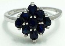 GENUINE 1.85 carat BLUE SAPPHIRES 10k White Gold Ring *FREE SHIPPING & APPRAISAL