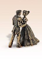 Miniatur Bronze Figur Stuhl Sessel Bernstein Skulptur manuelle Verarbeitung...
