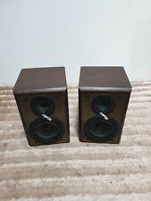 PAIR OF TECHNICS SMALL BROWN SHELF SPEAKERS SB-HD51 6 OHMS 60W