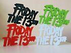 Friday The 13th Shelf Art Movie Display Horror Film Ornamental Retro Logo Text