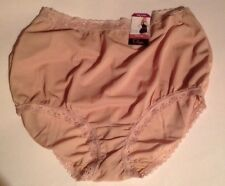 Olga WN SZ 9/XXL BRIEF SECRET HUG TAN SILKY SMOOTH FABRIC NEW WITH TAG