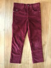 Jasper Conran boy burgundy corduroy trousers 7 years