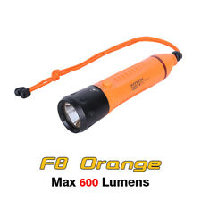 Fitech F8 Cree XML2 LED Rechargeable Diving Light Flashlight Torch - Orange