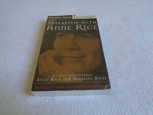 Interview with Anne Rice - Random House Audiobook - Cassette - Sealed Copy