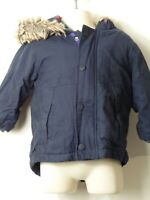 BOYS NEXT AGE 9-12 MONTHS BLUE PADDED HOODED PARKA COAT JACKET KIDS