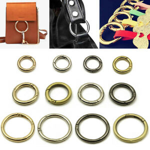 Metal O Ring Openable Keyring Bag Belt Strap Buckle Dog Chain Snap Clasp Clip