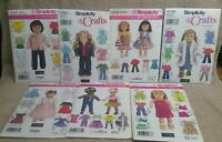 "Simplicity Sewing Patterns 18"" Doll Clothes 4297 7083 3936 4786 4364 3873 4654"