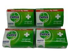 Dettol Antiseptic Soap (4 Pack) Anti-bakteri Original 105g New