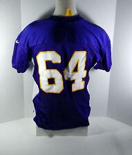 2012 Minnesota Vikings  #64 Game Issued Purple Practice Jersey