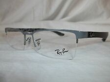 RAY BAN CARBON FIBER GLASSES FRAME RX8412 2893 TOP GRAY 52-17-145 NEW AUTHENTIC