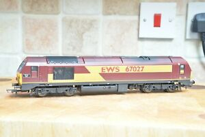 Hornby Class 67 number 67027 EWS Livery pro-renumbered.