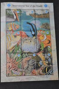 ST VINCENT 1998 YEAR OF THE OCEAN SHEET AND SET-S2600-2605