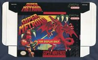 1994 Nintendo SNES Super Metroid Original Promo Box Store Display