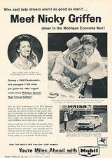 1958 Mobil Gas Station Oil Original Advertisement Print Art Car Ad J653