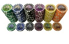 13.5 Gram Plastic Numbered High Quality Casino Poker Chip Rolls