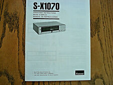New listing Sansui Operation Manual S-X1070