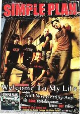 "SIMPLE PLAN ""WELCOME TO MY LIFE - STILL NOT GETTING ANY"" THAILAND PROMO POSTER"