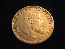 """MDS DEUTSCHES REICH KAISERREICH 10 MARK 1905 F """"WILHELM II. WUERTTEMBERG"""", GOLD"""