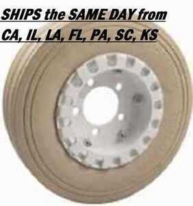 NEW SKYJACK WHEEL ASSEMBLY 400X8 SPLIT RIM NON MARKING RIBBED (108877)