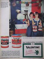 PUBLICITÉ PRESSE 1961 LES JUMELLES DE VALENTINE VALNYL VALENITE - ADVERTISING