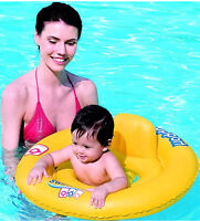"""Bestway 27""""/69cm Inflatable Baby Seat Pool Fun Floating Baby Seat Swimming Ring"""