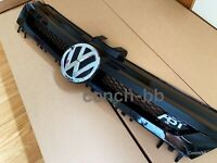 VW GOLF MK7 2013-2017 FRONT CENTRE GRILLE ABT Style Gloss BLACK And Chrome Badge