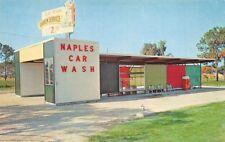 Naples FL Naples Sudden Service Car Wash Coca Cola Machine Postcard