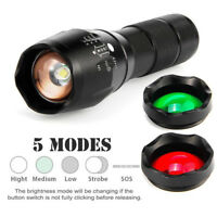 20000LM T6 LED Zoomable 3 colour Flashlight Torch Hunt Light super bright