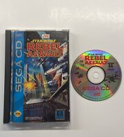 Star Wars: Rebel Assault (Sega CD, 1993) COMPLETE Good Hinges READ DESCRIPTION!