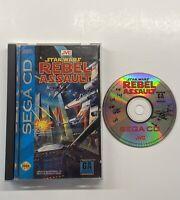Star Wars: Rebel Assault (Sega CD, 1993) COMPLETE Good Hinges READ DESCRIPTION!
