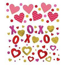 Saint Valentin confettis anniversaire de mariage Cœurs romantiques amour Kisses