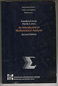 Introduction to Mathematical Analysis Paperback Lewin