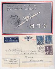 Siam Thailand Stamps 1936 Klm Airmail Wrapper To England Postal History