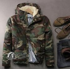 Mens Winter Camo Hooded Thicken Fleece Military Coat Fashion Outdoor Jacket Hot