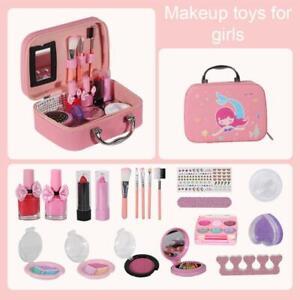 Girls Kids Heart MakeUp Compact Case Cosmetic Beauty Set Backpack/Portable Box