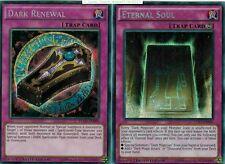 2-card set: Dark Renewal* YGLD + Eternal Soul* Secret 1st LDK2-Ens06 Mint YUGIOH
