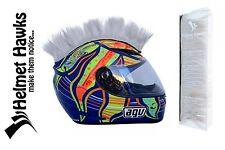 Helmet Hawks ™ Mohawk White Silver Motorcycle Bike BMX Helmet Mohawks