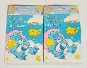 Vintage Care Bear Baby Shower Invitations American Greetings 2 Packs of 8