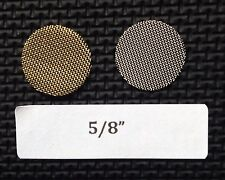 "5/8"" tobacco pipe screen filters - 25 count - Brass - 0.625 inch - High Quality!"