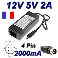 Adaptateur Chargeur 12V 5V 2A 4 Pin Disque Dur Zaapa Media R1080 HDMI 1To