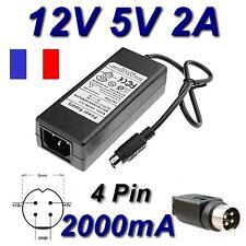 Alimentation Secteur Chargeur 12V 5V 2A 4 Pin STOREX SPP34 Wattac BA0362ZI-8-B02