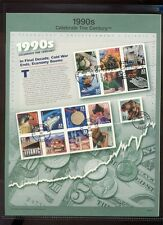 #3191 90s Celebrate the Century USPS#0014 Souvenir Page