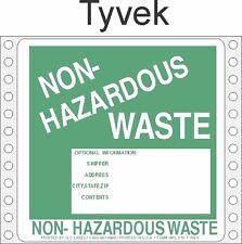 Non-Hazardous Waste Tyvek Labels HWL370T (PACK OF 500)