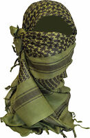 ARMY COMBAT OLIVE GREEN ARAB SHEMAGH SCARF NOT SCRIM NET VEIL SAS PARA ARAB