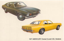 Mercury Comet 2 & 4 Door Sedans for 1971 original Postcard